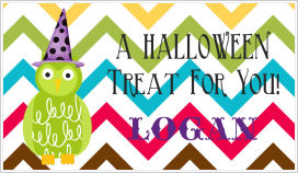 Halloween Enclosure Cards (ECRH) - Owl with Witches' Hat