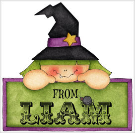 Halloween Enclosure Cards, Tags and Stickers (ECSH) - Peeking Witch