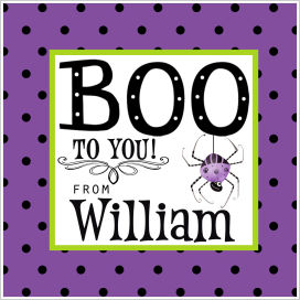 Halloween Enclosure Cards, Tags and Stickers (ECSH) - Spider and Polka Dots