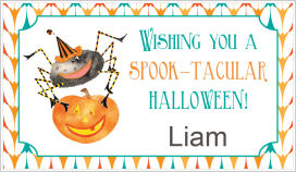 Halloween Enclosure Cards (ECRH) - Scary Spider and Jack-O-Lantern
