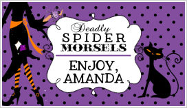 Halloween Enclosure Cards (ECRH) - Witches' Deadly Spider Morsels