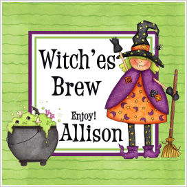 Halloween Enclosure Cards, Tags and Stickers (ECSH) - Witch'es Brew