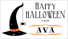 Halloween Enclosure Cards (ECRH) - Witches' Hat With Spider