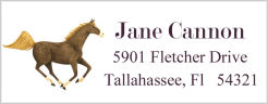 Address Labels - Horse