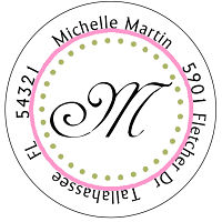 Address Labels - Fun Initial (Round)