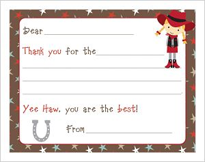 Kids' Fill In The Blank (KFB) - Cowgirl