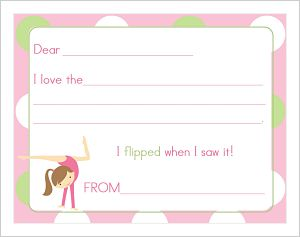 Kids' Fill In The Blank (KFB) - Gymnastic Girl