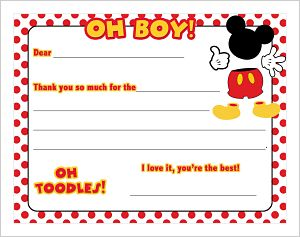 Kids' Fill In The Blank (KFB) - Mickey Mouse