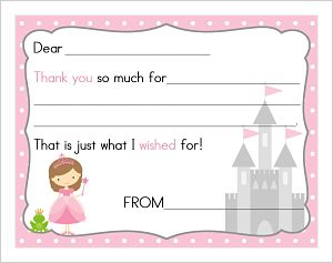 Kids' Fill In The Blank (KFB) - Princess