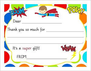 Kids' Fill In The Blank (KFB) - Super Hero