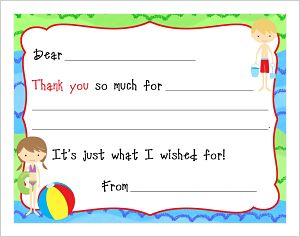 Kids' Fill In The Blank (KFB) - Swimming Party