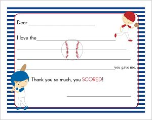 Kids' Fill In The Blank (KFB) - Softball Party