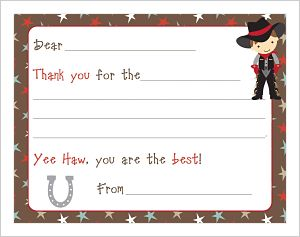Kids' Fill In The Blank (KFB) - Cowboy