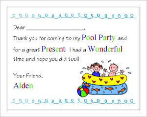 Kids' Fill In The Blank (KFB) - Pool Party