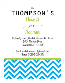 Moving Announcements - Chevron Stripes