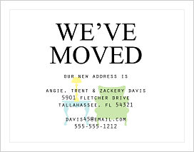 Moving Announcements - Furniture