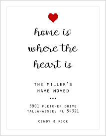 Moving Announcements - Home Is Where The Heart Is