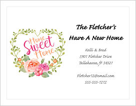 Moving Announcements - Home Sweet Home in a Heart