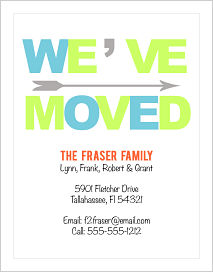 Moving Announcements - WE'VE MOVED (Words)