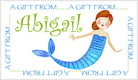 Enclosure Cards - Abigail the Mermaid