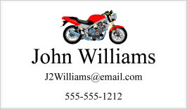 Calling Cards - Red Motorcycle