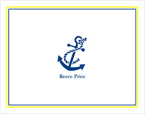 Note Cards - Anchor and Rope