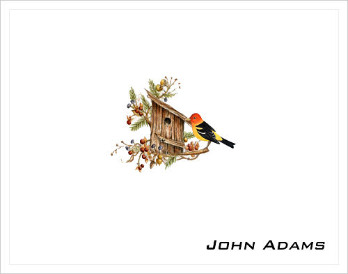 Note Cards - Birdhouse and Bird