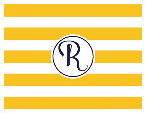 Note Cards - Bold Fun Stripes (Yellow and Navy)