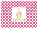 Note Cards - Cupcake and Polka Dots