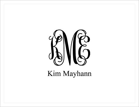 Note Cards - Elegant Monogram (and Name)