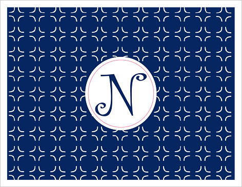 Note Cards - Fun Navy and Pink