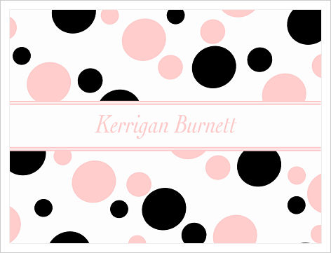 Note Cards - Fun Polka Dots (Pink and Black)