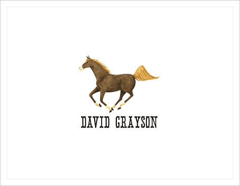 Note Cards - Horse (Western Font)