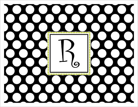 Note Cards - Lots Of Fun Polka Dots (Black and White)