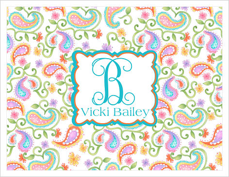 Note Cards - Pastel Paisley