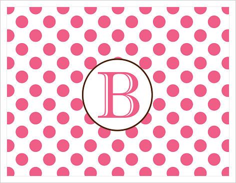 Note Cards - Pink and White Polka Dots
