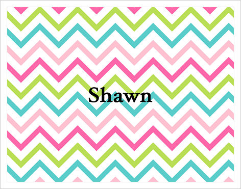 Note Cards - Rainbow Chevron Stripes