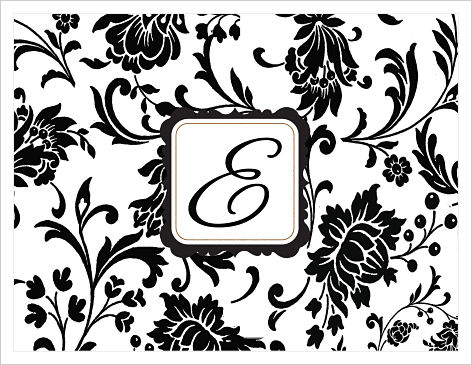 Note Cards - Silhouette Black Flowers (Option 2)