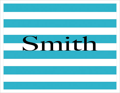 Note Cards - Turquoise Stripes