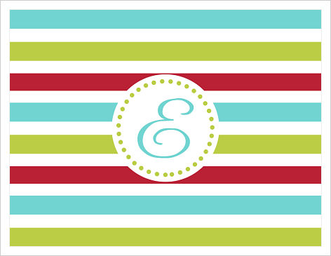 Note Cards - Whimsical Multi-Colored Wide Stripes