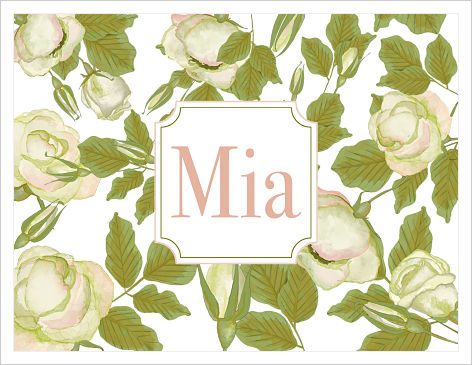 Note Cards - White Roses (Option 2-Name)