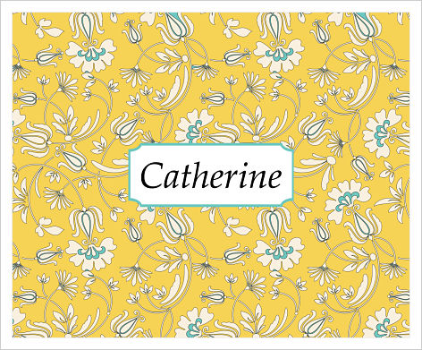 Note Cards - Yellow and Blue Floral Background