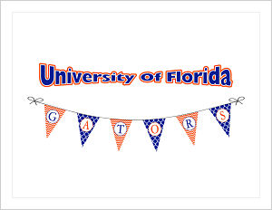 Note Cards  - University of Florida (The Gators) Banners