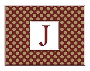 Note Cards - More Polka Dots In FSU (Florida State Seminoles) Colors