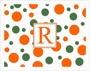 Note Cards - Polka Dots in FAMU (Florida A & M University) Colors