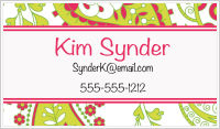 Calling Cards - Paisley (Red and Green)