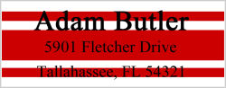 Address Labels - Red Bars