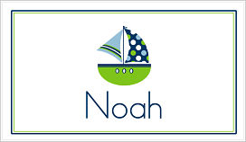 Enclosure Cards - Blue and Green Sailboat