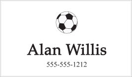 Calling Cards - Soccer Ball