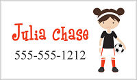 Calling Cards - Girl Soccer Player